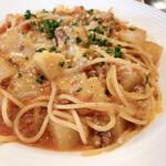イタリア料理 ドルチェヴィータ - 射水産大根のボローニャ風ミートソース