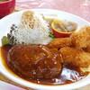 フレール - 料理写真:ハンバーグ、牡蠣フライ
