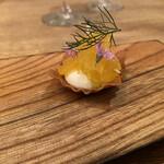 フランス料理 サンク - ハッサク、わさびな、沖縄結晶塩、ローズマリー、フェンネル葉