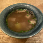 フランス料理 サンク - すっぽんのフラン、すっぽんのスープ、むしあわび、大根