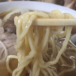 富家 - 麺リフト 喉ごしの良い美味しい麺です