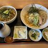 福徳屋 - 料理写真:鶏ごぼう茶漬け 冷やしたぬきセット