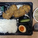 里山製麺 - 料理写真:牛かつ定食ダブル ¥1,450