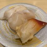 超グルメ回転すし 武蔵丸 - 貝三昧 つぶ貝、ホタテ、ほっき
