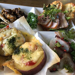 エル・バローロ - 料理写真:前菜 手前左のさつまいもがめっちゃ甘くて美味しい
