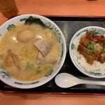 146793734 - Bやきとり丼セット&味玉 730円
