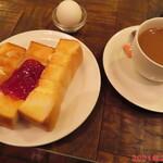 喫茶サンチョ - トースト・たまごセット 450円(税込)