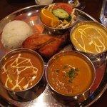 インディアン・レストラン Taz Mahal - ディナー カレーセット(\1400)