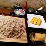食事処 居酒屋 こまつ - 料理写真:もりそば&玉子焼き&おいなりさん
