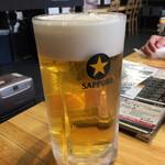 たじま炭火焼肉 輪が家 - 生ビールは、サッポロ 最高