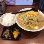 皆楽亭 - 料理写真:皆楽みそラーメン+ライス 900円(税込)