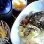 Kitchen Le ciel - ロコモコ丼+サラダ+お吸い物+デザート