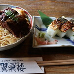 146812892 - 焼鯖そうめんと焼鯖寿司