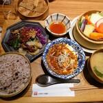 膳や musi-vege+ - 令和3年2月 花椒香る四川風麻婆豆腐と牛肉のオイスター炒め膳 1100円