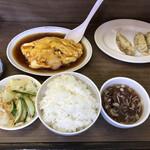 寿楽 - 日替わり定食、エビ玉定食