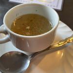 ポリネシア - 秋鮭のコロッケ&ハンバーグ1,260円につくスープ