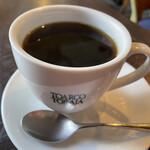 ポリネシア - 秋鮭のコロッケ&ハンバーグ1,260円につくコーヒー