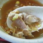 喜奴屋 - スープ割りに具を追加してくれます(*^^)v