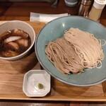 146823361 - 【限定】淡麗イベリコ豚あいもりつけ麺(1500円)