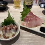 天ぷらとワイン 大塩 - ブリのお造り ホタルイカのお造り