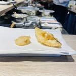 天ぷらとワイン 大塩 - ホタテとタラ