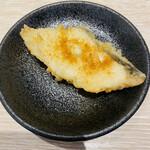 天ぷらとワイン 大塩 - タラ、からすみ掛け