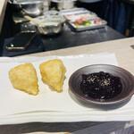 天ぷらとワイン 大塩 - カマンベール、ブルーベリーソース付き