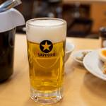 京の華 - 2021.2 サッポロ生ビール 中ジョッキ(480円)