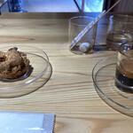 ソルズ コーヒー ラボラトリー - くるみのスコーン、エスプレッソ