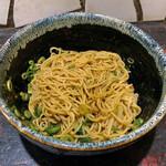 きさく - 汁なし担々麺(麺混ぜ後)