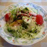 洋食厨房 KAJIMOTO - スープセットのサラダ