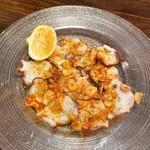 池袋 ビストロ モンパルナス - 水蛸のガーリックカルパッチョ(880円)