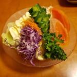 千成 - 「竹」定食の生野菜