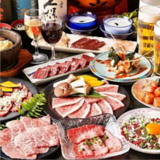 上質肉がリーズナブルに楽しめる焼肉食べ放題コースが自慢!