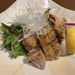 和食居酒屋 旬門 - 大山鶏の塩焼きはぷりぷりで、しっかりとした鶏の味