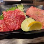 焼肉三松 - お肉は上ロース、上カルビ、上塩タン
