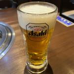 焼肉三松 - 焼肉にはやっぱり生ビール
