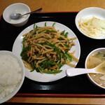 好味来 - 青椒肉絲セット 750円 ご飯大盛 0円