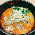 想吃担担面 - 料理写真:【3月限定】あさり担担麺~プレミアム担担麺~