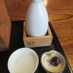 146893260 - 菊正をぬる燗で、お通しは「蕎麦味噌」