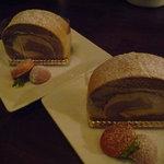グローブカフェ - ☆サービスでモカなロールケーキを頂きましたぁ(^^ゞ☆