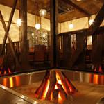 方舟 酒月 - 囲炉裏で焼き牡蠣!なんとも贅沢!
