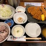 まるかつ - 料理写真:えびフライ&ロースかつ定食