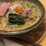 ヌイユ - 鴨しお麺、大吟醸風味