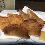 九州八豊やせうまだんご汁 - 林田の天ぷら 3種
