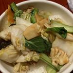 刀削麺・火鍋・西安料理 XI'AN - 五目中華丼(+ハーフ刀削麺セット)