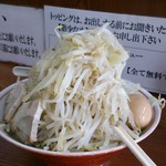 ラーメン大 - ラーメン(600円)+味玉(80円)野菜増し増し