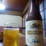 古久家 - 【H24.9.6】先ずは瓶ビール。一番搾り中瓶。
