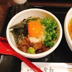神戸牛らーめん 八坐和 - 神戸牛醤油ラーメン(+神戸牛卵かけご飯、1400円)
