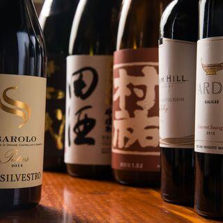 【こだわりの豊富な日本酒&Wine】